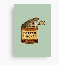 Potted Chicken Canvas Print