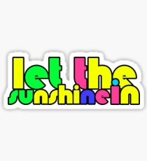 Hair Musical Quote Let The Sunshine In Hippie 60s Peace Sticker