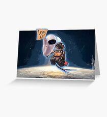 WALL-E & EVE  Greeting Card