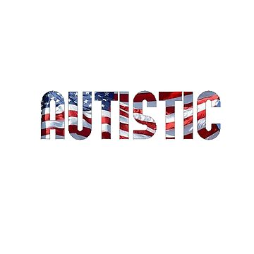 Love Autistic and Vote - USA - dark background by sparrowrose