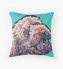 Poodle Labradoodle Golden Doodle Dog Bright colorful pop dog art Throw Pillow