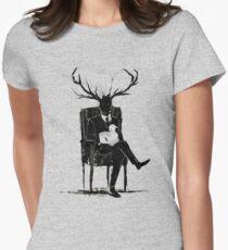 Hannibal Lecter NBC Hirschgeweih Lamm Tailliertes T-Shirt