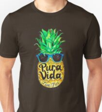 Pineapple in Sunglasses Costa Rica Summer Pure Life T-Shirt