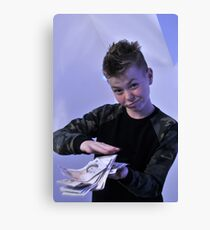 Alistair got a swaggeringly large amount of money for his birthday Canvas Print