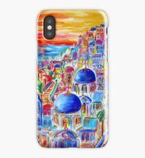 Fiery Santorini iPhone Case/Skin