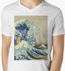 The Great Wave Off Gyarados Men's V-Neck T-Shirt