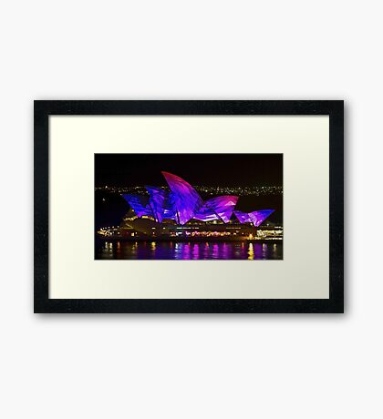 Panel Sails - Sydney Vivid Festival - Sydney Opera House Framed Print