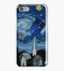 starry night tardis iPhone Case/Skin