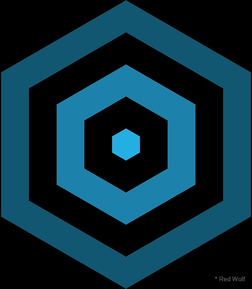 Geometric Pattern: Hexagon Hive: Dark Positive: Blue by * Red Wolf