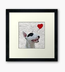 English Bull Terrier Banksy Style Framed Print