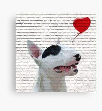 English Bull Terrier Banksy Style Canvas Print