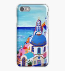 Colorful Oia Santorini iPhone Case/Skin