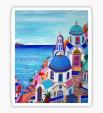 Colorful Oia Santorini Sticker
