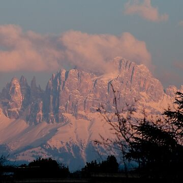 Pretty in Pink: Sunset on the Dolomites by leemcintyre