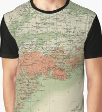 Vintage Geological Map of Nova Scotia (1906) Graphic T-Shirt