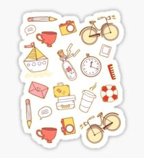 Cartoon traveling elements Sticker
