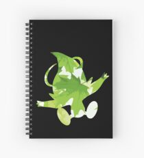 Celebi used leaf storm Spiral Notebook