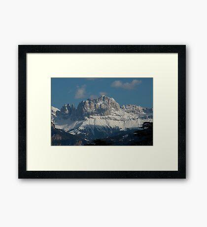 Snow on the Dolomites, Bolzano/Bozen, Italy Framed Print