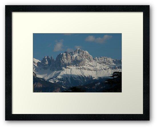 Snow on the Dolomites, Bolzano/Bozen, Italy by L Lee McIntyre