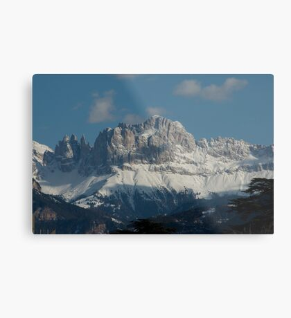 Snow on the Dolomites, Bolzano/Bozen, Italy Metal Print