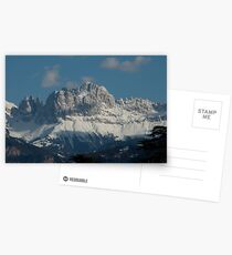 Snow on the Dolomites, Bolzano/Bozen, Italy Postcards