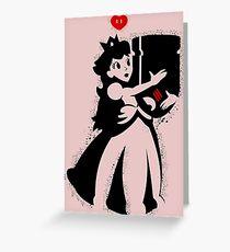 TShirt Princess and Bomb Hugger Banksy Parody Greeting Card