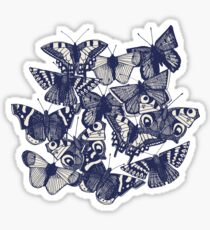 butterfly pale mint Sticker