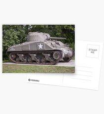 Sherman Tank Postcards