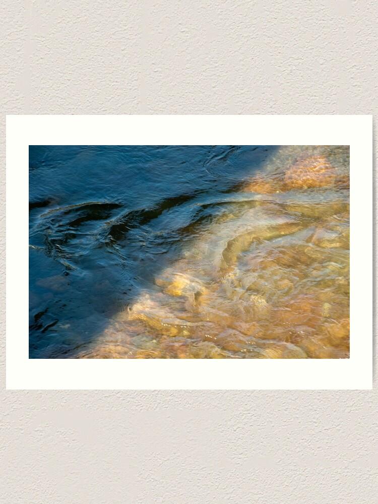 Alternate view of Sun and Shadow, Talvera River, Bolzano/Bozen, Italy Art Print