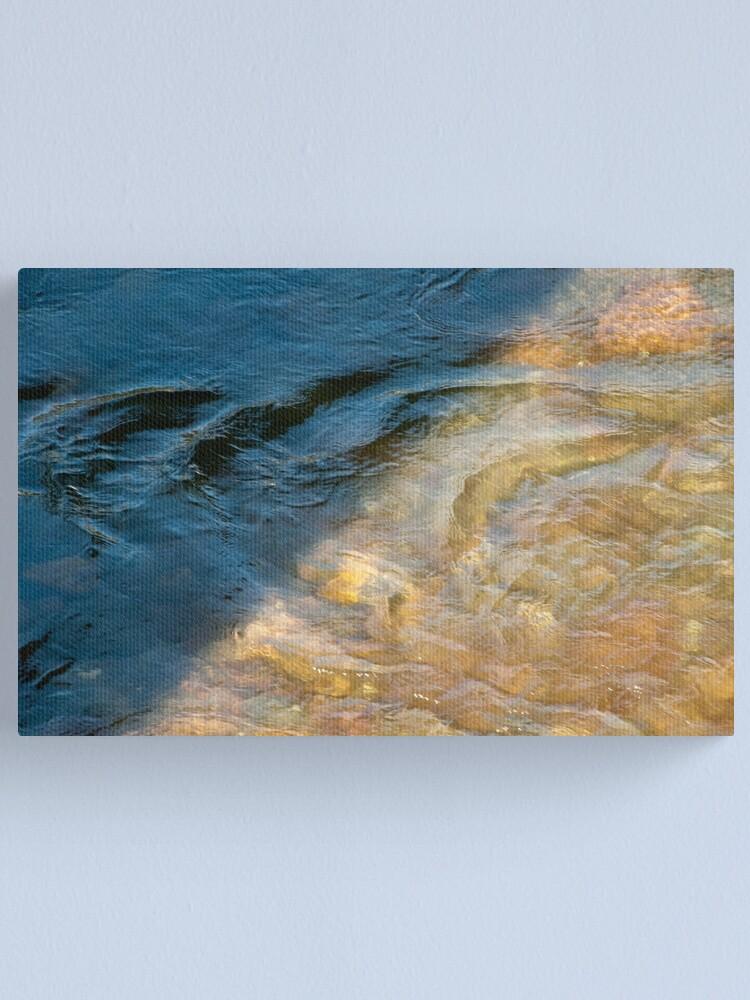 Alternate view of Sun and Shadow, Talvera River, Bolzano/Bozen, Italy Canvas Print