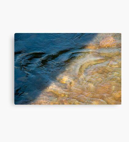 Sun and Shadow, Talvera River, Bolzano/Bozen, Italy Canvas Print
