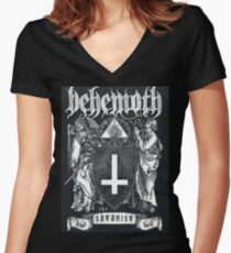 Satanic Band Women's Fitted V-Neck T-Shirt