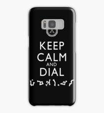 Keep Calm and Dial Earth (white) Samsung Galaxy Case/Skin
