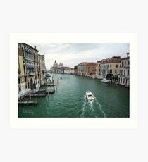 Scene on the Grand Canal, Venice Art Print