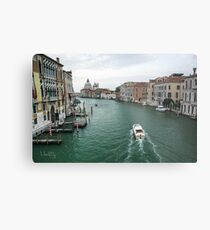Scene on the Grand Canal, Venice Metal Print