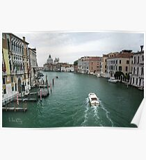 Scene on the Grand Canal, Venice Poster