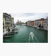 Scene on the Grand Canal, Venice Photographic Print
