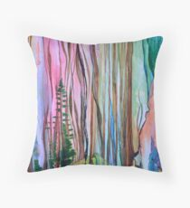 Abstract Forest Landscape Throw Pillow