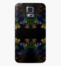 Tetris-like Abstract Black Colorful Rainbow Geometric Pattern Case/Skin for Samsung Galaxy