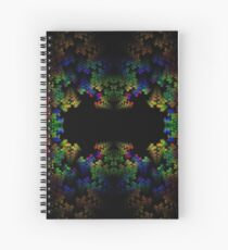 Tetris-like Abstract Black Colorful Rainbow Geometric Pattern Spiral Notebook