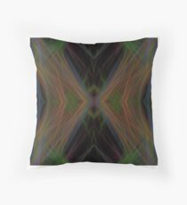 Fractal Abstract Psychedelic Black Energy Waves Throw Pillow