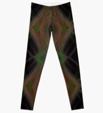 Fractal Abstract Psychedelic Black Energy Waves Leggings