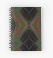 Fractal Abstract Psychedelic Black Energy Waves Spiral Notebook