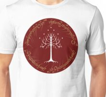 White/Burgundy Tree of Gondor Unisex T-Shirt