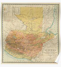 Vintage Map of Guatemala (1902) Poster