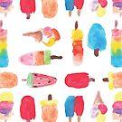 Watercolor ice cream popsicle  by lolipoptalia