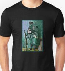 Infantry Soldier in Full Gear Portrait T-Shirt