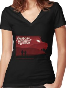 An American Werewolf in London Women's Fitted V-Neck T-Shirt