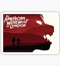 An American Werewolf in London Sticker