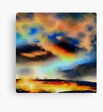 Nature,water color,painting,classy,beautiful,dark colors,contemporary Canvas Print